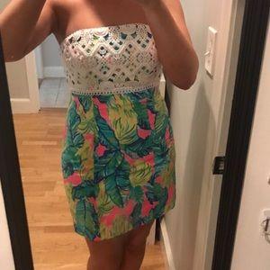 Brynn Dress- Lilly Pulitzer strapless dress!